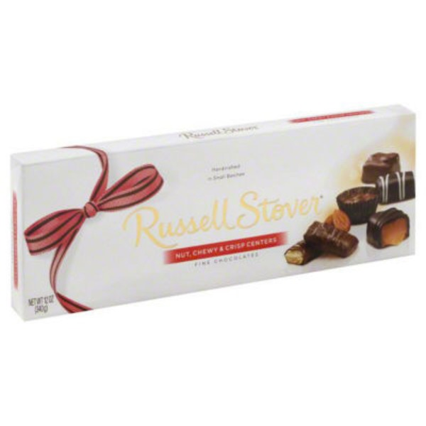 Russell Stover Fine Chocolates Nut, Chewy & Crisp Centers
