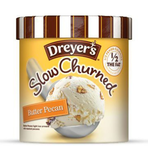 Edy's Slow Churned Ice Cream, Butter Pecan, Light