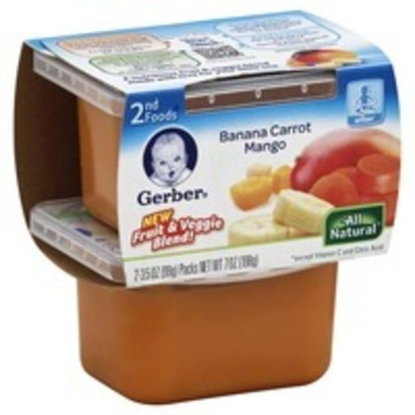 Gerber Banana Carrot Mango 2nd Foods