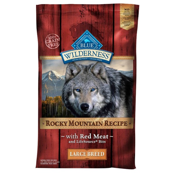 Blue Buffalo Dog Food, Dry, Rocky Mountain Recipe with Red Meat, Large Breed, Bag