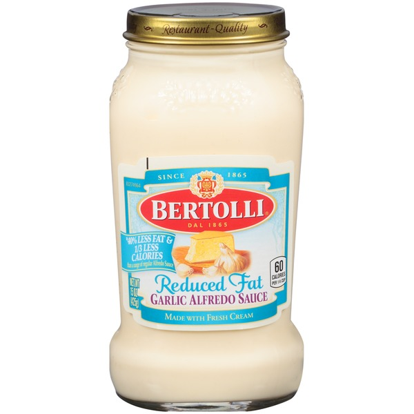 Bertolli Garlic Reduced Fat Alfredo Sauce