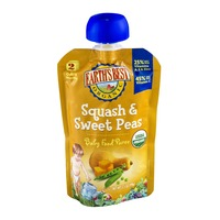 Earth's Best Organic Stage 2 Squash & Sweet Peas Baby Food Puree
