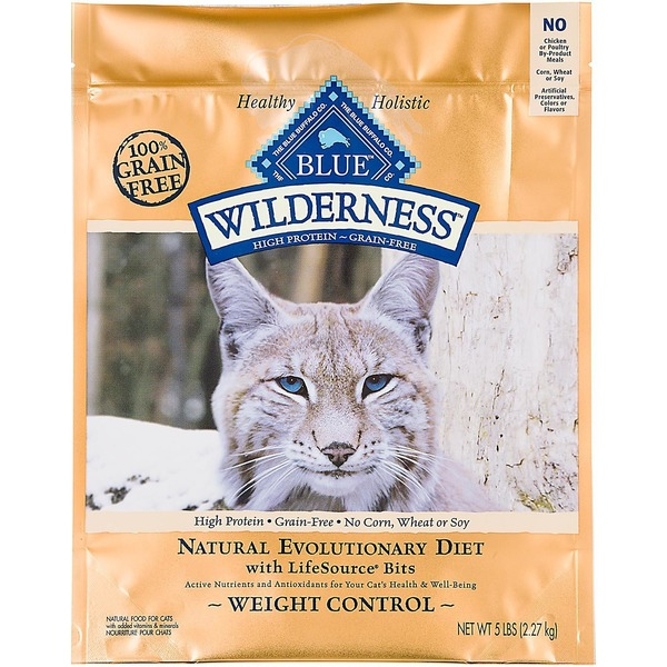 Blue Buffalo Food for Cats, Natural, Natural Evolutionary Diet, Weight Control, Adult, Chicken Recipe