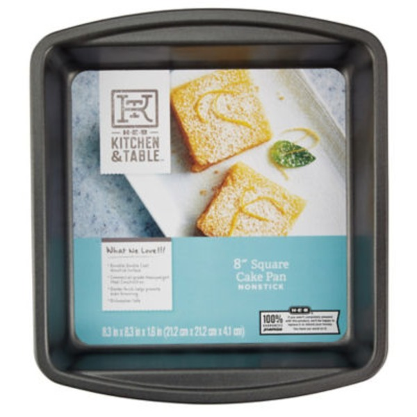 H-E-B Kitchen & Table 9 Inch Square Cake Pan