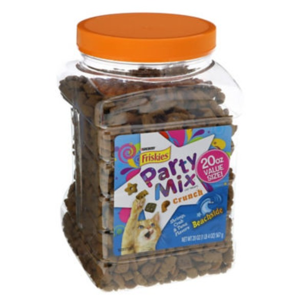 Friskies Treats Party Mix Crunch Beachside Cat Treats