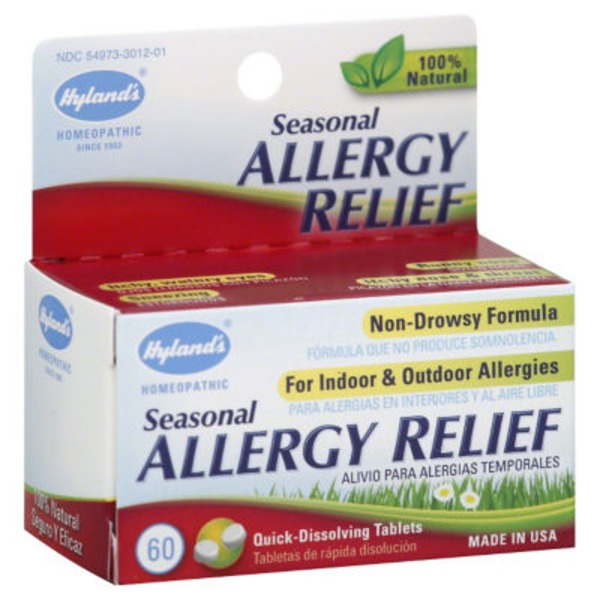 Hyland's Seasonal Allergy Relief - 60 CT