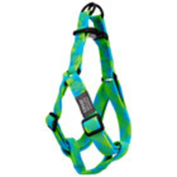 Cesar Millan Blue/Lime Braided Harness