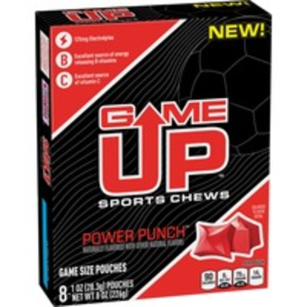 Game Up Power Punch Sports Chews