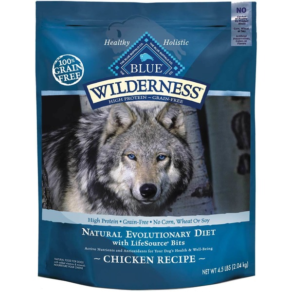 Blue Buffalo Wilderness Chicken Adult Dry Dog Food 4.5 Lbs.