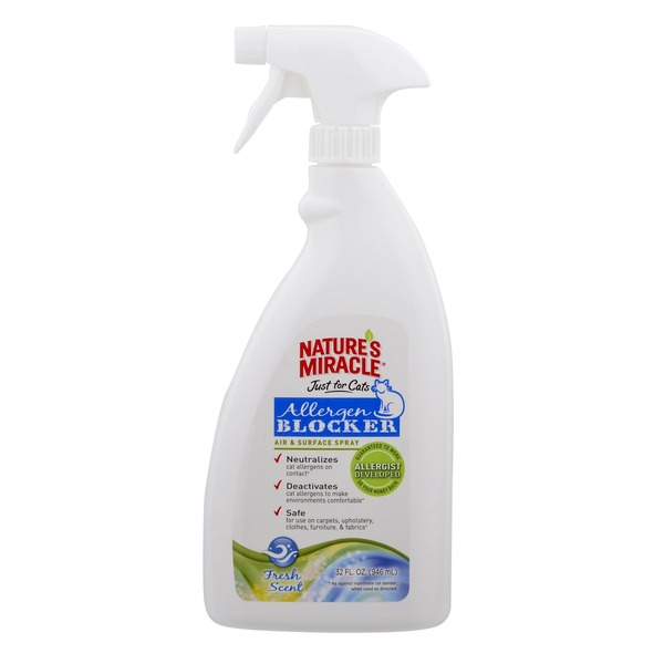 Nature's Miracle Just For Cats Allergen Blocker Air & Surface Spray 32 Fl. Oz.