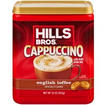 Hills Bros. Coffee Mix, English Toffee Cappuccino, 16 Oz, 1 Count