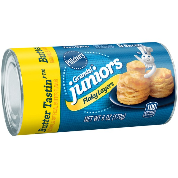 Pillsbury Grands! Juniors Flaking Layers Butter Tastin' Biscuits