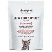 Well & Good Hip & Joint Support Cat Chews Pack Of 60 Chews