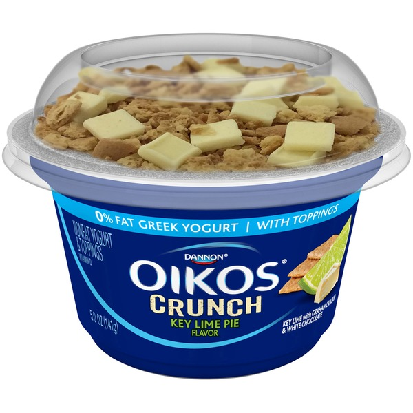 Oikos Crunch Greek Key Lime Pie with Toppings Nonfat Yogurt