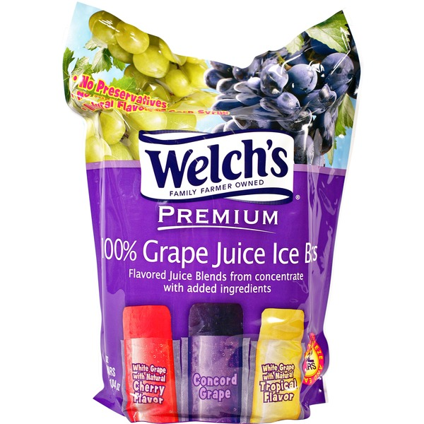 Welch's Premium 100% Grape Juice Ice Bars