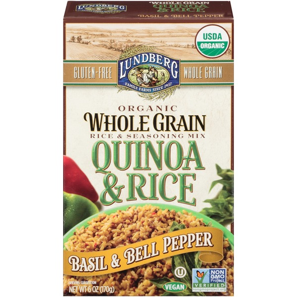 Lundberg Family Farms Organic Whole Grain Basil & Bell Pepper Quinoa & Rice