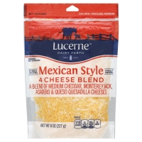 Lucerne Cheese Finely Shredded Mexican Four Cheese Blend