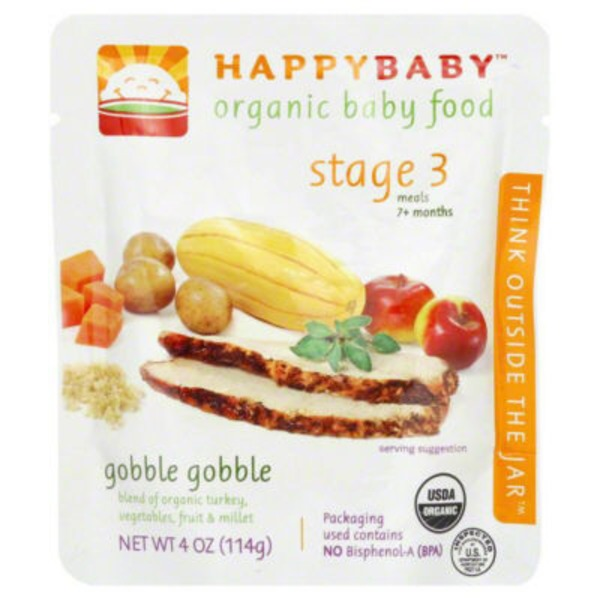 Happy Baby/Family Hearty Meals Root Vegetables & Turkey with Quinoa Stage 3 Organic Baby Food