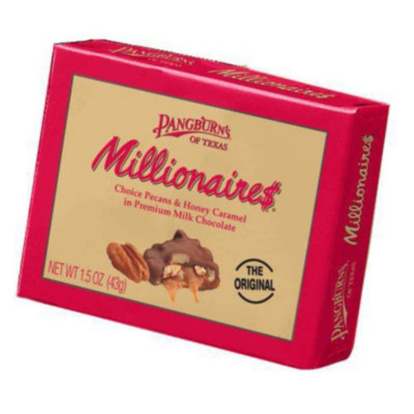 Pangburn's Millionaires Pecans & Honey Carmel Milk Chocolate