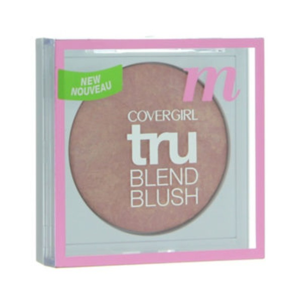 CoverGirl TruBlend COVERGIRL truBlend Baked Powder Blush, Medium Rose 0.1 oz (3.0 g) Female Cosmetics