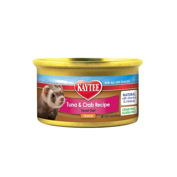 Kaytee Premium Tuna and Crab Recipe Ferret Diet