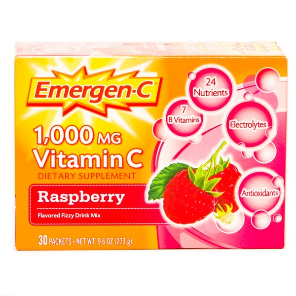 Emergen-C Vitamin C 1,000 mg Raspberry  Dietary Supplement