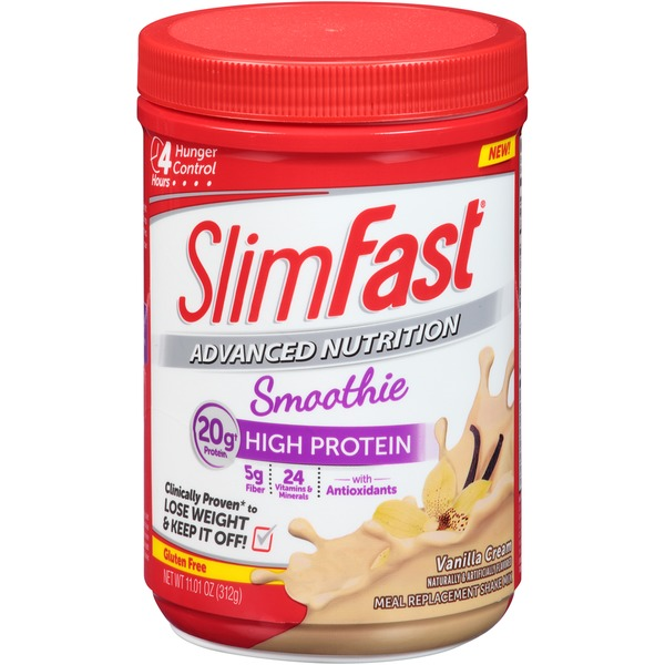 Slimfast Advanced Nutrition Vanilla Cream Smoothie Meal Replacement Shake Mix