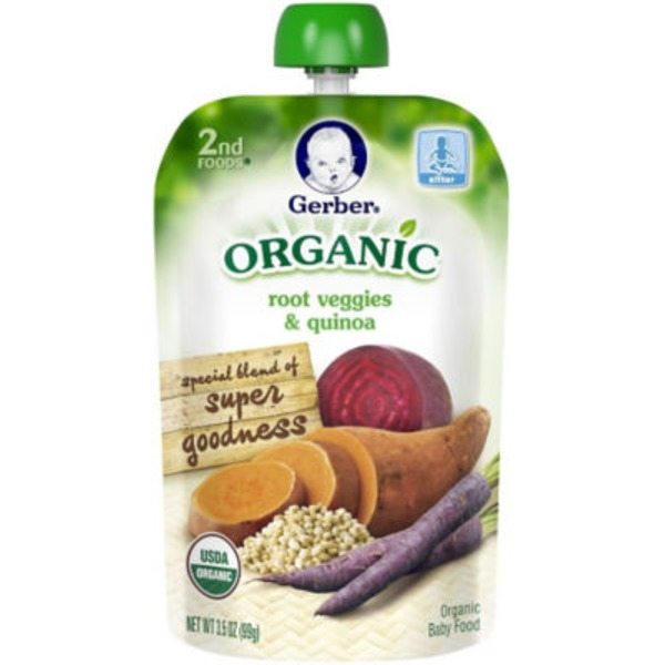Gerber Organic 2 Nd Foods Organic Root Veggies & Quinoa Baby Food