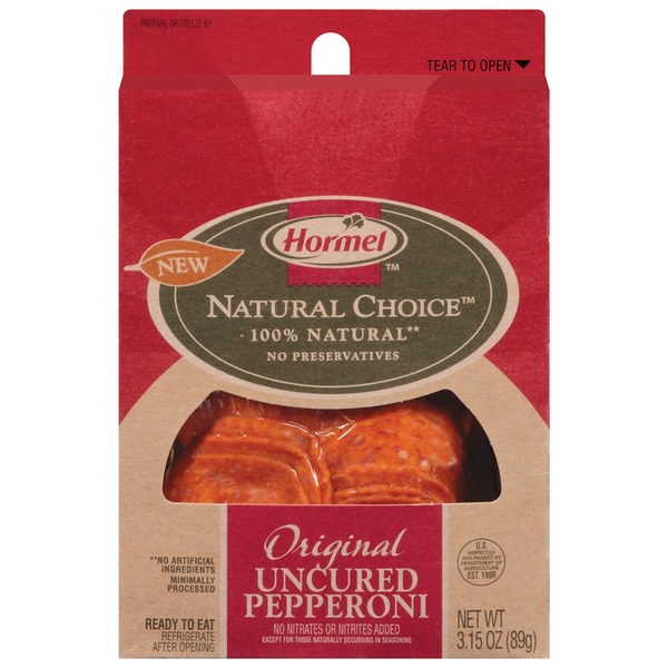 Hormel Original Uncured 100% Natural Pepperoni