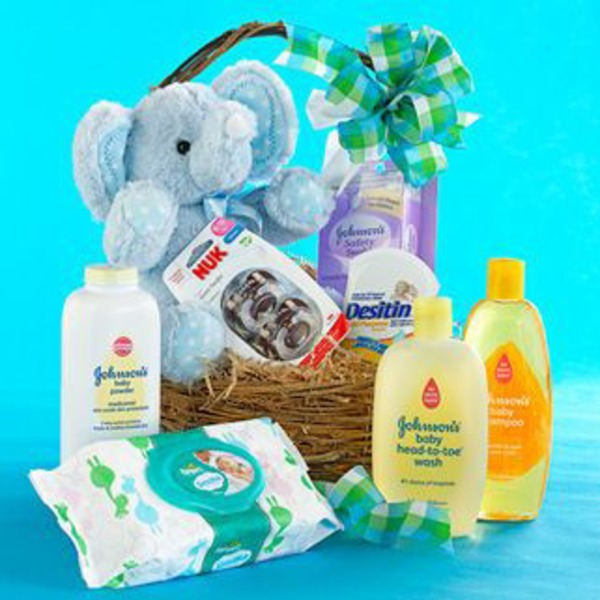 H-E-B Bouncing Baby Boy Basket