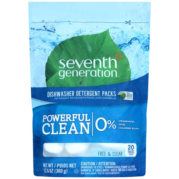 Seventh Generation Free & Clear Dishwasher Detergent Packs