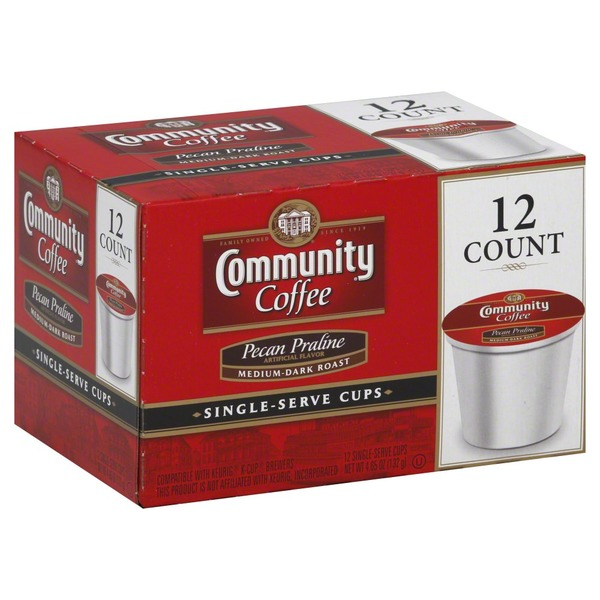 Community Coffee Coffee, Single-Serve Cups, Medium-Dark Roast, Pecan Praline