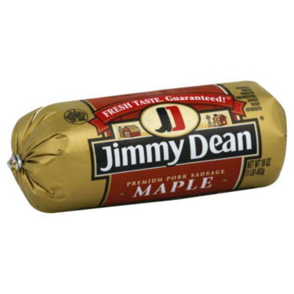 Jimmy Dean Sausage, Premium, Pork, Maple