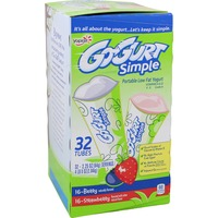 Yoplait Go-Gurt Simple Strawberry/Mixed Berry Variety Pack Portable Low Fat Yogurt