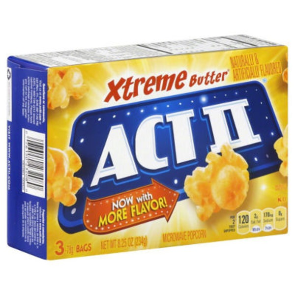 Act II Microwave Popcorn Xtreme Butter - 3 CT