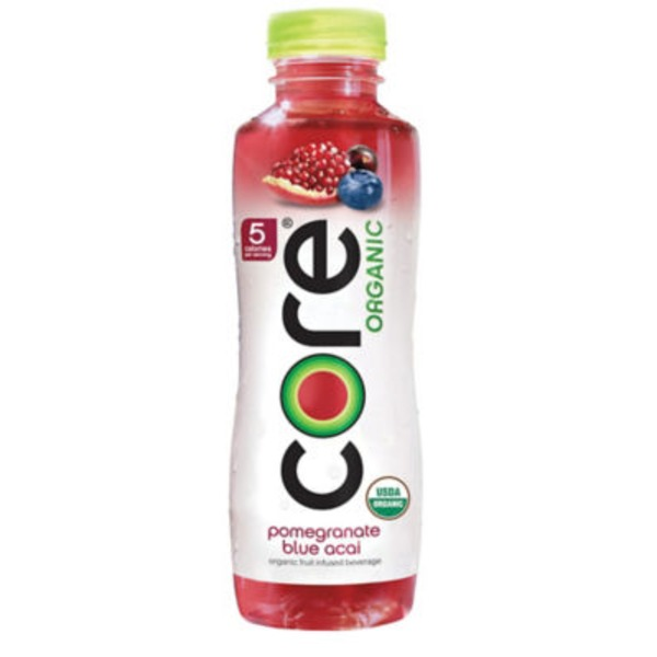 Core Organic Pomegranate Blue Acai Organic Fruit Infused Beverage