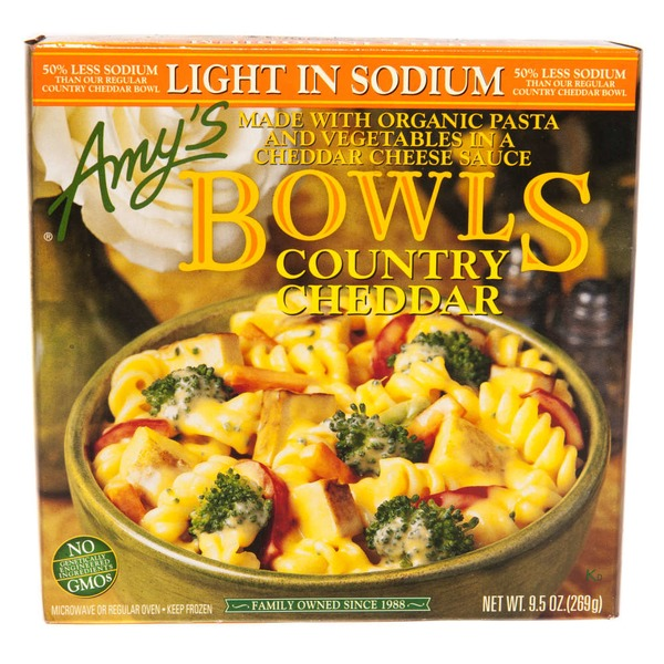 Amy's Light in Sodium Country Cheddar Bowl