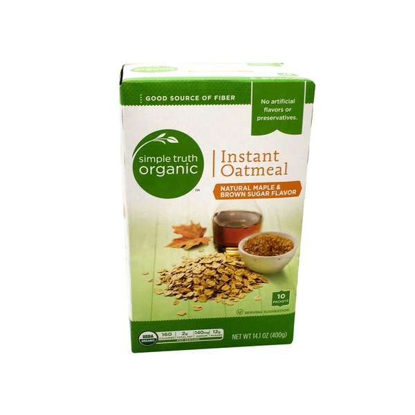Simple Truth Organic Maple & Brown Sugar Instant Oatmeal