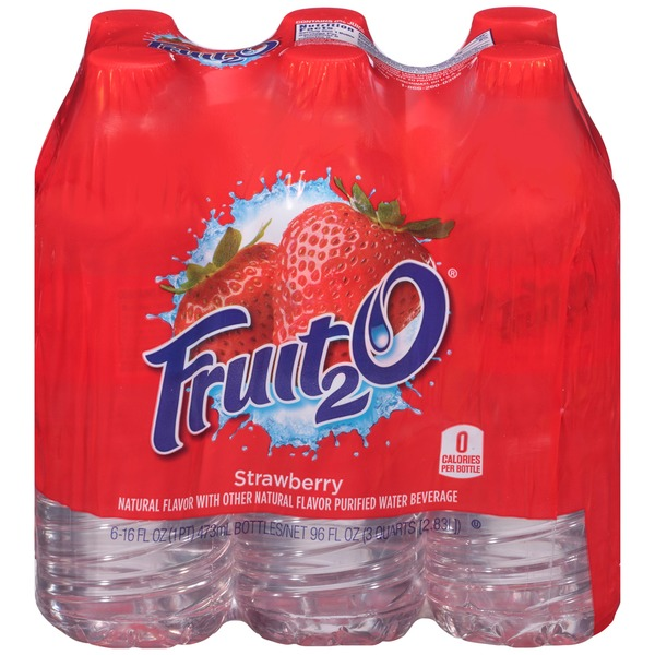 Fruit 2 O Strawberry Purified Water Beverage