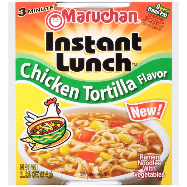 Maruchan Instant Lunch Chicken Tortilla Flavor Instant Lunch
