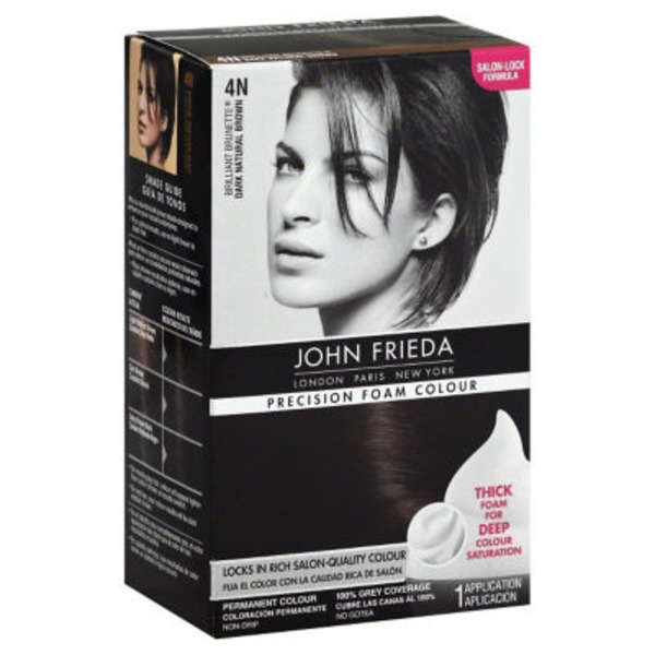 John Frieda Hair Color Precision Foam Colour Briliant Brunette Dark Natural Brown 4N Permanent Hair Colour