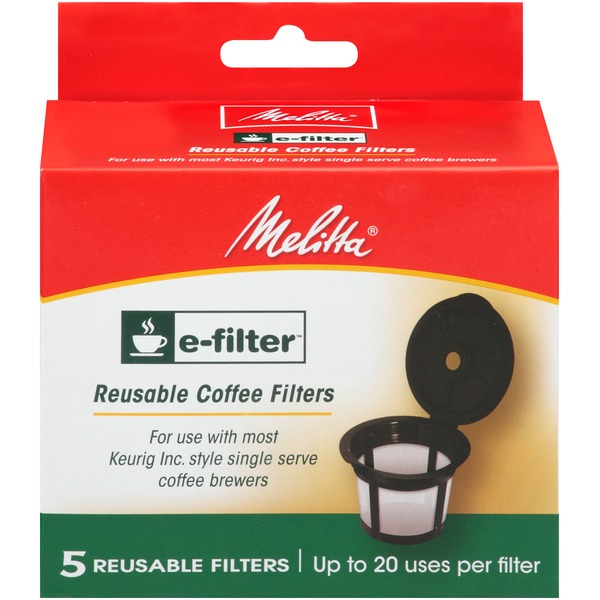 Melitta E-Filter Reusable K-Cups for Keurig K-Cup Brewers Coffee Filters