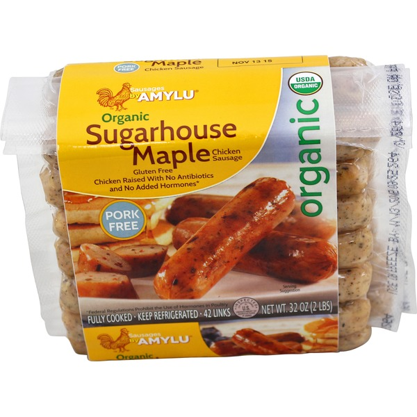 Amy Lu Organic Sugarhouse Maple Chicken Sausage