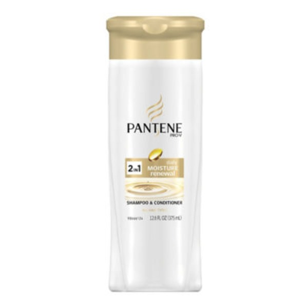 Pantene Daily Moisture Renewal Pantene Pro-V Daily Moisture Renewal 2in1 Shampoo and Conditioner 12.6 fl oz - Moisturizing 2 in 1 Shampoo and Conditioner  Female Hair Care