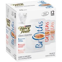 Purina Fancy Feast Broths Classic Collection Cat Complement 12-1.4 oz. Pouches