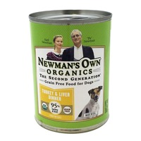 Newman's Own Organic Grain-Free Turkey & Liver Dinner Canned Dog Food