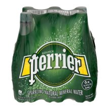 Perrier Sparkling Natural Mineral Water, 16.9 Fl Oz, 6 Count
