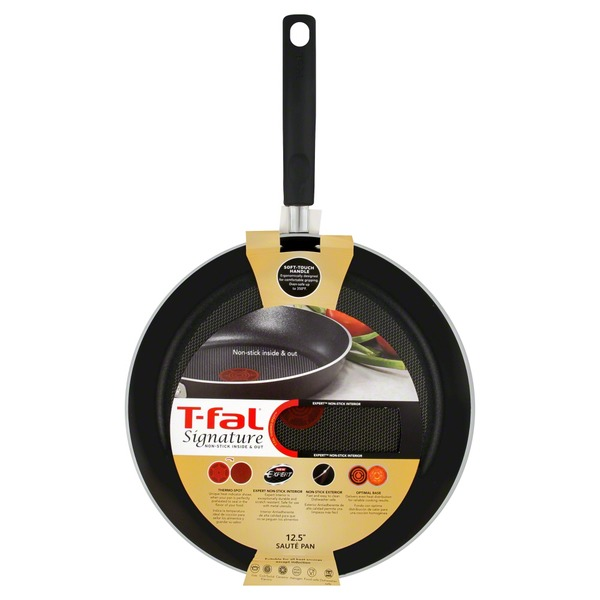 T-Fal Saute Pan, Non-Stick Inside & Out, 12.5 Inch