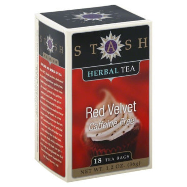 Stash Tea Herbal Tea, Red Velvet, Caffeine Free, Bags