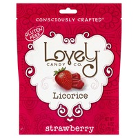 Lovely Candy Licorice, Strawberry, Gluten Free, Pouch